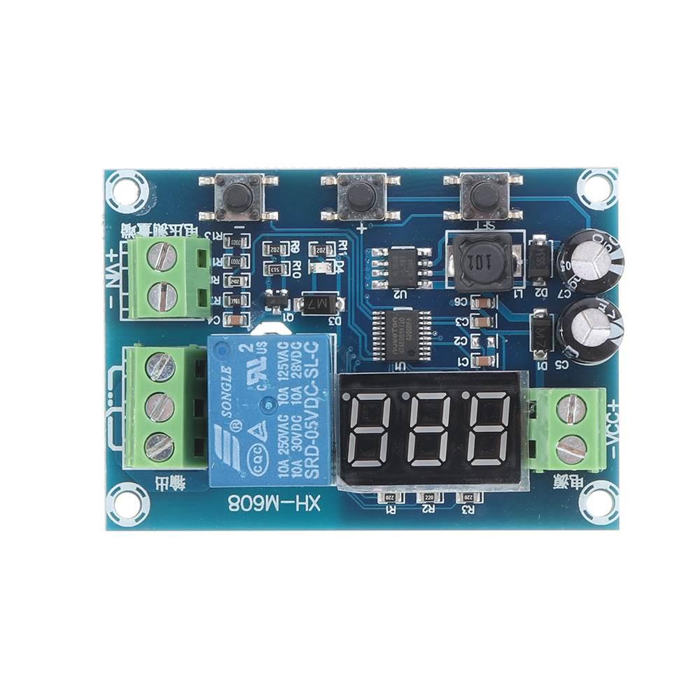 XH-M608 DC6-40V Battery Charge Discharge Module Integrated Voltmeter Undervoltage Overvoltage Protection Timing Discharge Board