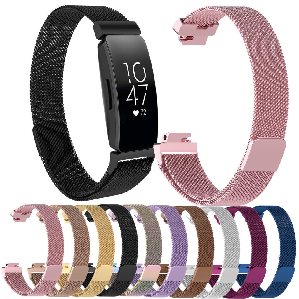 Essidi Milanese Strap For Fitbit inspire inspire HR Smart Bracelet Magnetic Stainless Steel Watch Band Clasp For Fitbit inspire Smart Accessories     - title=