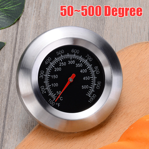 Barbecue Smoker Grill Thermometer 50~500 Degree Celsius Stainless Steel BBQ Temperature Gauge Oven Thermometer(China)