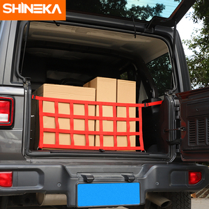 Image 5 - Car Covers For Jeep Wrangler JL 2019 2020 Car Multifunction Trunk Cargo Storage Net Cover Accessories For Jeep Wrangler JL 2018+