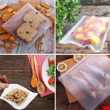 Silicone Food Storage Containers Leakproof Containers Reusable Stand Up Zip Shut Bag Cup Fresh Bag Food Storage Bag Fresh Wrap