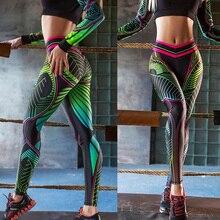 New 2020 Women Printed Yoga Pants Fitness Sports Slim Leggings Tight Pantalones Gym Clothing Sweatpants