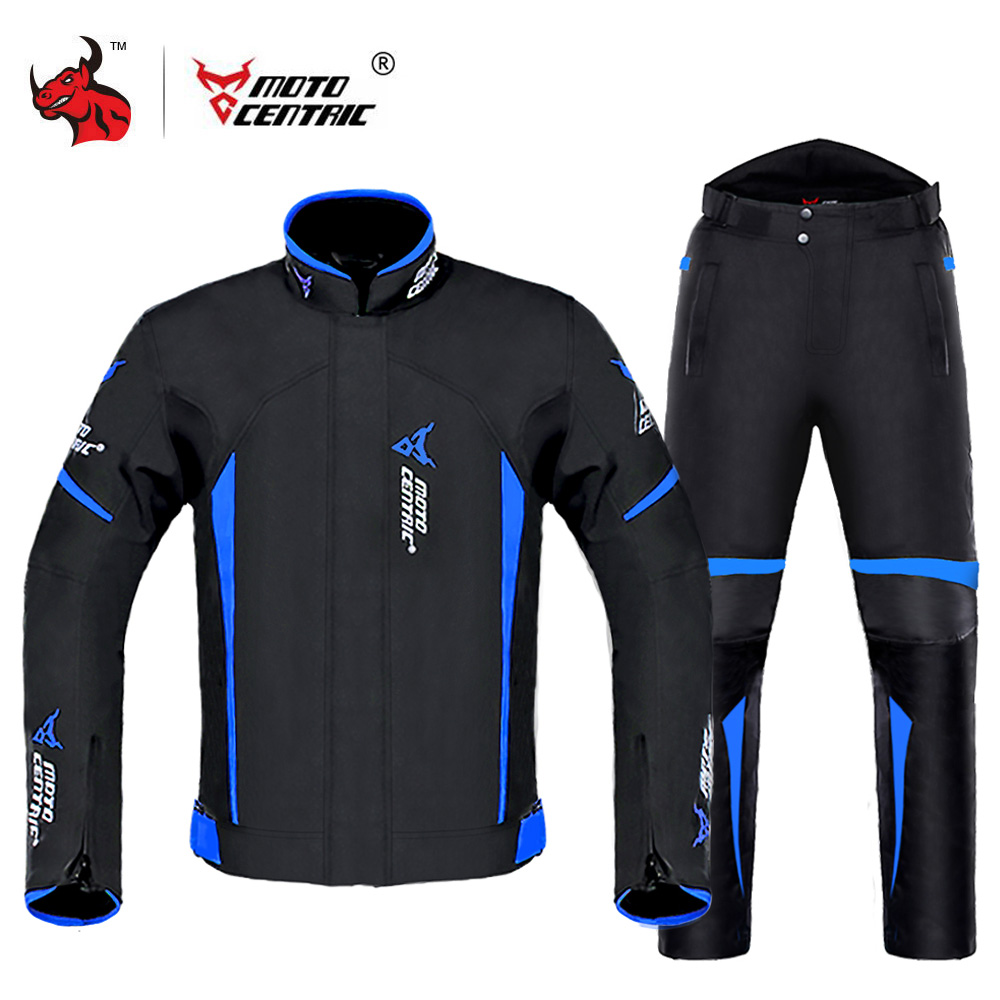 MOTOCENTRIC Motorcycle Jacket +Pants Moto Jacket Body Armor Waterproof Riding Racing Jaqueta Chaqueta  Protection