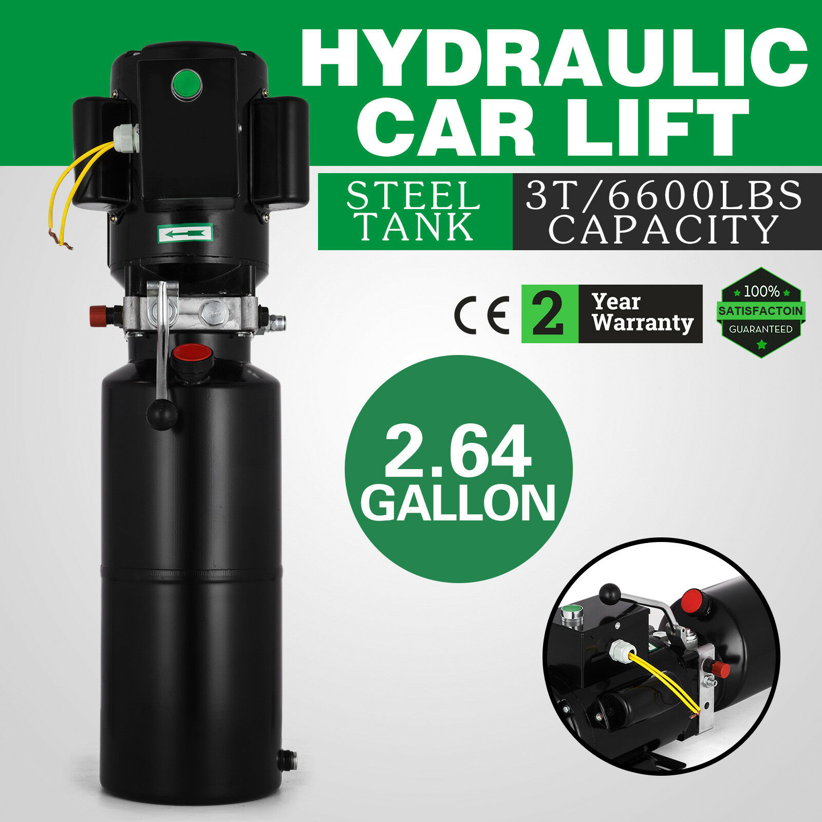 14l Car Lift Hydraulic Power Unit 60hz 1 ph 220V 2950 psi Hydraulic Pump