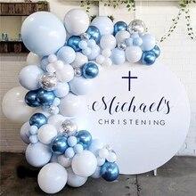 Metal Balloon Garland Birthday-Party-Decor Baby Shower Wedding-Event Pink Silver Adult
