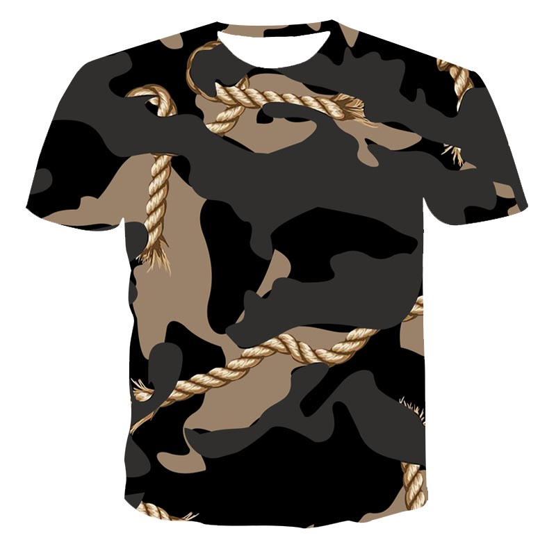 3D Sommer Neue Camouflage Serie männer/frauen Kleidung Lose Und Vielseitig T-Shirt Plus Größe Kleidung 110-6XL (anpassbare)
