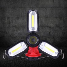 Led Rechargeable Work Light Emergency Lamp Hand Torch Outdoor Camping Tent Lantern Usb Charging Portable Searchlight