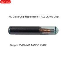 Teclado 10 Uds. Copia el Chip de vidrio 4D reemplazable TPX2 LKP02 Chip (soporte VVDI JMA TANGO KYDZ programador clave)