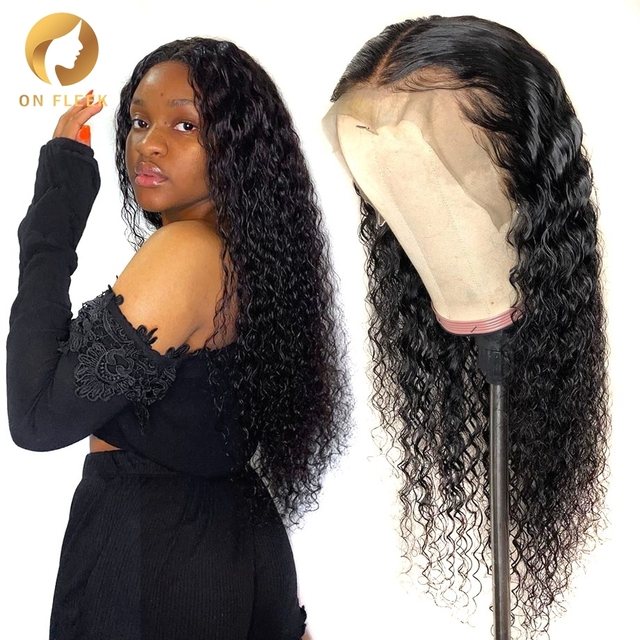 water wave wig short curly lace front human hair wigs for black women bob Long deep