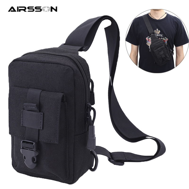 Tactical Shoulder Bag Molle Chest Bag Multifunctional Organizer Pockets Military Utility EDC Gadget For Outdoor Hunting Camping