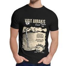 T-shirt à col rond pour homme, en coton, à la mode, avec image personnalisée sur le thème de sandver, Arrakis, science-fiction