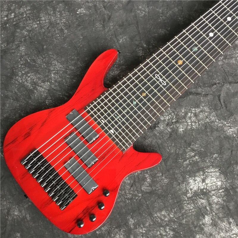 Высококачественная электрическая бас-гитара, красный, 11-строка электрогитара. Черная фурнитура. Хорошее качество звука. Классическое качество 1