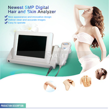 Newest 2 In 1 Skin Analyzer Hair Analysis Scanner Magnifying Multi-functional Healthy Analyze Care Tester for Beauty Salon