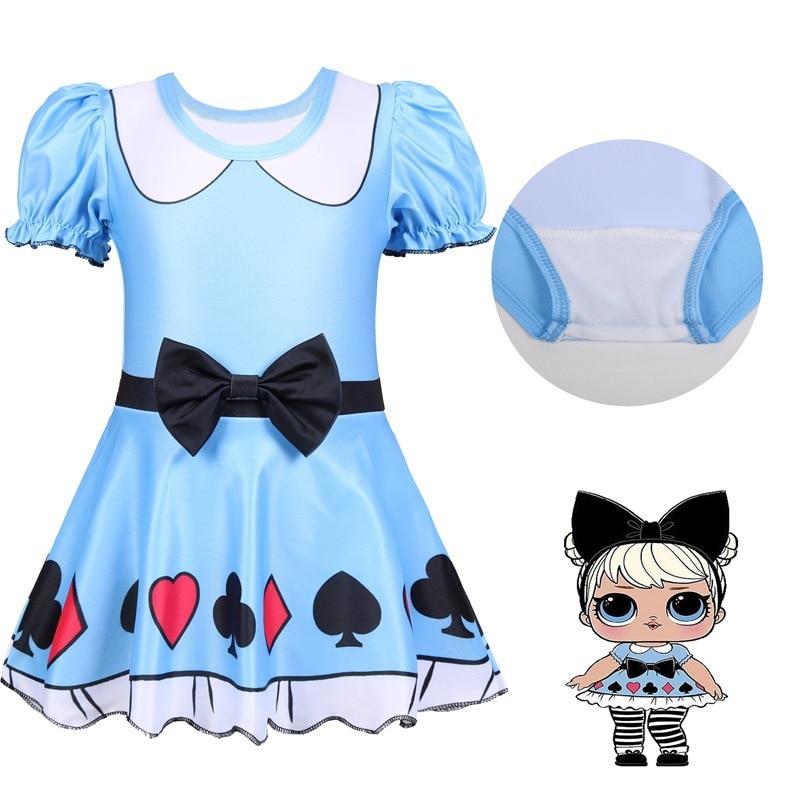 KID'S Swimwear Girls New Style Sun-resistant Swimwear One-piece Baby Hot Springs Cartoon Big Eyes Doll Baby Swimsuit 0396