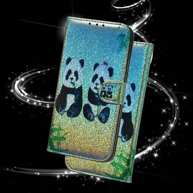 Flip Phone Case For Etui Samsung S7 S8 S9 S10 e A6 J4 J6 Plus A6 A7 A9 J6  2018 J330 J530 Note 9 10 Pro Panda Wallet Book Cover