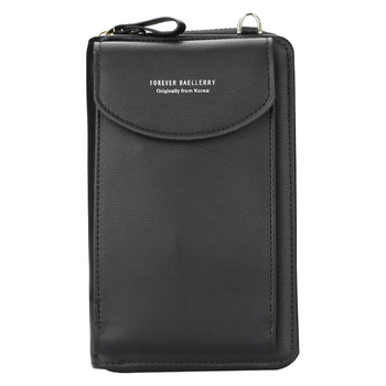 wallet women Diagonal PU multifunctional mobile phone clutch bag Ladies purse large capacity travel card holder passport cover 12
