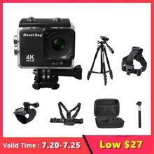 """2.0 """"ללכת Pro Ultra HD 4K פעולה ספורט וידאו מצלמה DVR מקליט Wifi שלט רחוק עמיד למים Selfie מקל gopro אבזרים"""