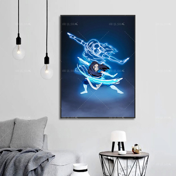 Modern Wall Art Anime Character Poster Canvas Painting HD Print Fashion Home Decor For Boy Bedroom Decor Modular Picture Framed недорого