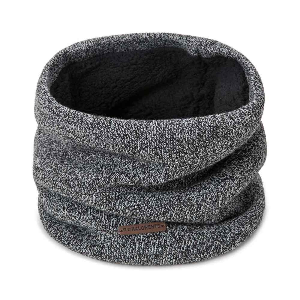 Novo inverno cachecol de malha inverno quente anel cachecol para mulher grosso mais veludo sólido solor cachecol unissex acessórios de vestuário