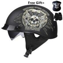 Motorrad Helm Vintage Roller Halbe Gesicht Helm Retro Biker Motorrad Helm Crash Moto Helm Mit Visier