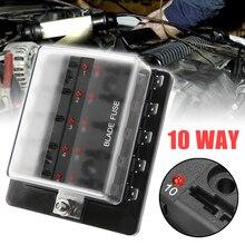 Car Accessories Fuses Box Holder 10 Way Blade Fuse Box Block Holder for Car Boat Marine Trike 12V 24V Car Fuses цена