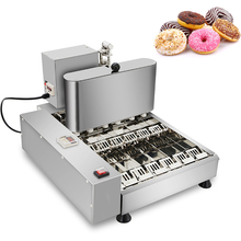 Commercial Full Automatic Production Donut Making Machine 6 Molds Stainless Steel Electric Fryer Mini Doughnut Makers 1750Pcs/h