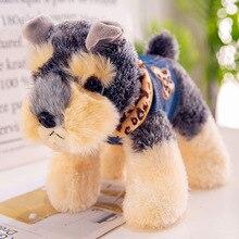 Candice guo, плюшевая игрушка, плюшевая кукла, милая маленькая имитация, перевязь, ковбой, шнауцер, собака, щенок, детский подарок на день рождения, Рождество