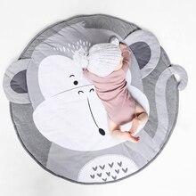 Мультфильм детские игровые коврики коврик для малышей Дети Ползания одеяло круглый ковер игрушки коврик для детской комнаты декор Коврик для пола фото реквизит