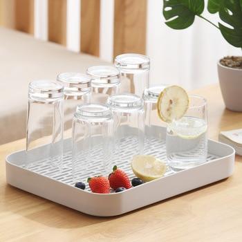 Двухслойная Стоковая стойка, пластиковая сушилка на раковину для посуды, поднос для хранения фруктов, Сервировочные лотки, декор для посуды, кухонный Органайзер