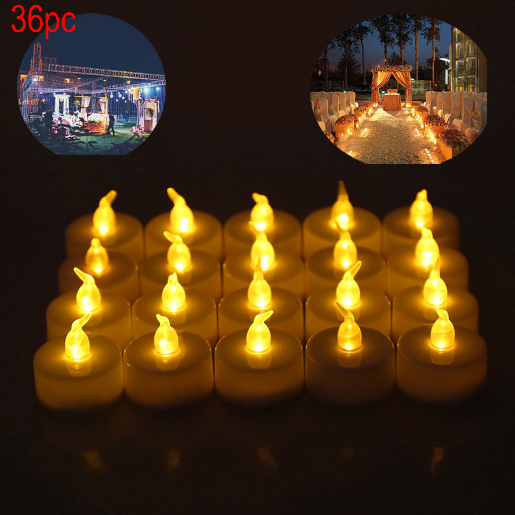 Realistic And Bright Battery Operated Flashing Flameless Tea Lights With Candles Including Batteries  Christmas Decorations