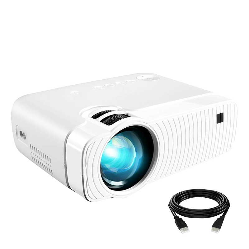 Yj333 Projector 1080P Home Office Mini Portable Highlight Stereo Video Projector(Us Plug)