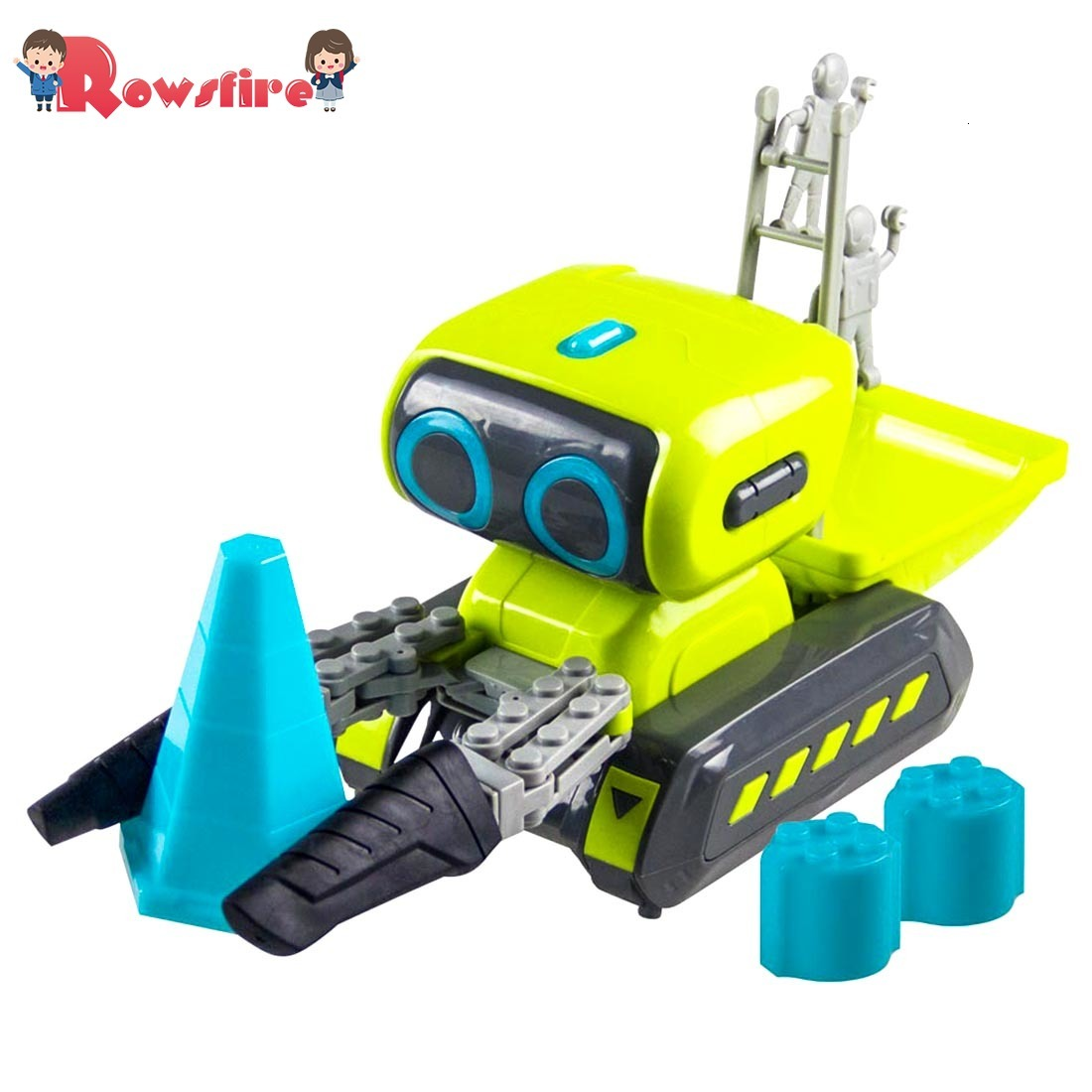 2019 New Recommend 1 Pcs Smart Programming RC Robot Engineering Forklift RC Indoor Toy With Light And Music For Children