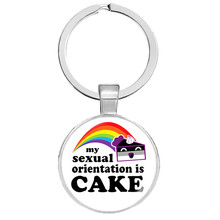 Bi Pride Keychains LGBT Pride Keyrings Key Hoder for Sensitive Ears Jewelry Llaveros Cute Keychain Christmas Gifts(China)