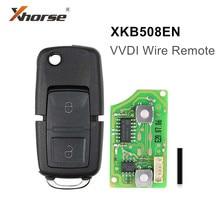 5pcs/lot Xhorse XKB508EN XKB501EN Wire Universal Remote Key B5 Style 2 Buttons for VVDI Key Tool VVDI2 free shipping