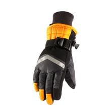 2019 new winter ski gloves kids Waterproof Anti-Cold Warm Gloves Outdoor Sport Full Finger Mitten Adjustable Non-slip