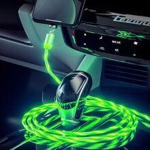 Автомобильный плавный свет Магнитный usb-кабель для зарядки для Mitsubishi ASX Lancer 10 для Outlander, Pajero Sport 9 Colt Carisma Galant grandis