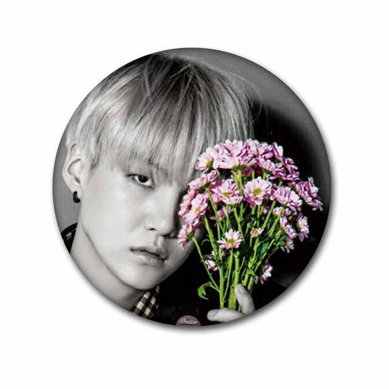 KPOP Bangtan Boy emalia Pin przypinki na klapę na plecak metalowa plakietka broszka Kpop akcesoria odzież dla fanów