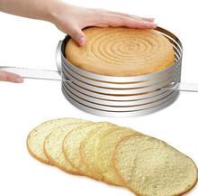 Adjustable Cake Cutter Slicer Stainless Steel Round Bread Mold Tools DIY Kitchen Baking Accessories