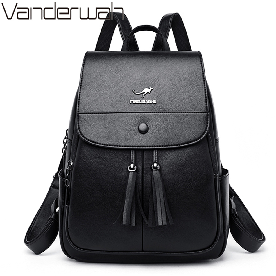 Sac A Dos Brand New Laptop Backpack Women Leather Luxury Backpack Women Fashion Backpack Satchel School Shoulder Bags For Women