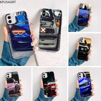 Blue Red Car for Bmw Custom Soft Phone Case for iphone 12 pro max 11 pro XS MAX 8 7 6 6S Plus X 5S SE 2020 XR cover image