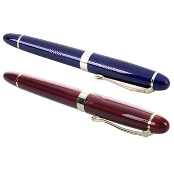 2 sztuka JINHAO X450 18 KGP 0.7mm szeroki stalówka do pióra wiecznego czerwony i niebieski na