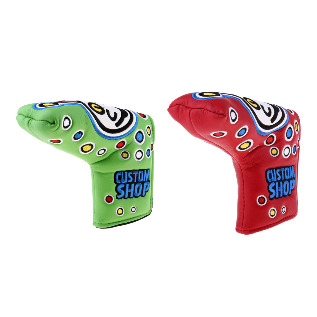 Golf Putter Head Covers Golf Club Protectors Protective Sleeve- Pack Of 2
