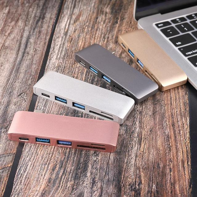 USB C Hub Per Slot per lettore di Schede di DEVIAZIONE STANDARD TF Hub 3.0 PD Thunderbolt 3 USB C Hub Adapter per MacBook New pro Air 12 13 15 16 2020 2019 A2141 2