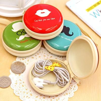 Cartoon Coin Earphone Bag Creative Wallet South Korea Cute Hand Creative Kindergarten Creative Children Small Gifts