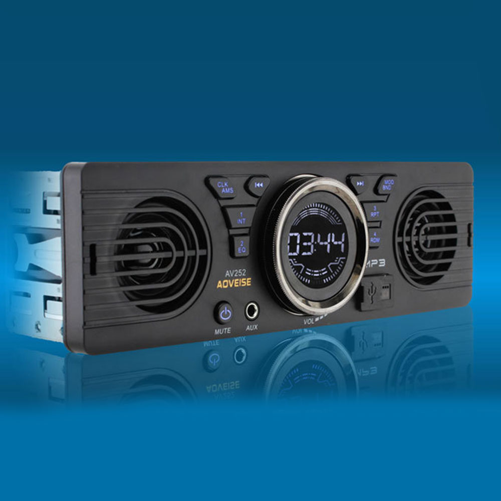 Car Radio 1 din FM radio car Auto Audio Stereo Bluetooth Autoradio LCD display 12V Car Radio Mp3 Multimedia Player USB/SD/AUX-IN image