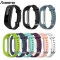 Ремешок AKBNSTED силиконовый для смарт-часов Huawei Band 3e 4e, браслет для бега Honor Band 4, версия браслета
