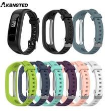 Akbnsted Horloge Band Siliconen Polsband Voor Huawei Band 3e 4e Smart Horloge Voor Honor Band 4 Running Armband Versie polsband
