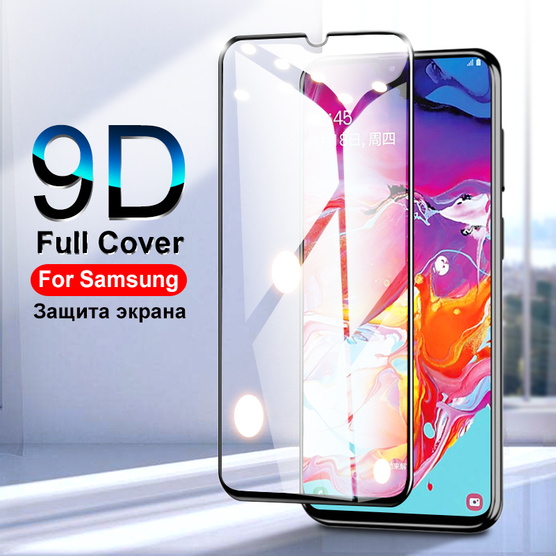 9D Protective Glass On For Samsung Galaxy A50 A40 A30 A20 A10 Screen Protector For Samsung A70 A80 A90 A60 Glass On M20 M10 M30