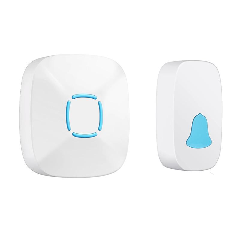 ABKT-Wireless Doorbell Waterproof 300M Remote Long Range Door Bell 1x Outdoor Transmitters 1x Indoor Receiver(Eu Plug)