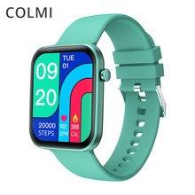 Colmi p15 1.69 polegada 2021 relógio inteligente dos homens de toque completo fitness rastreador ip67 à prova dip67 água smartwatch para xiaomi redmi android telefone